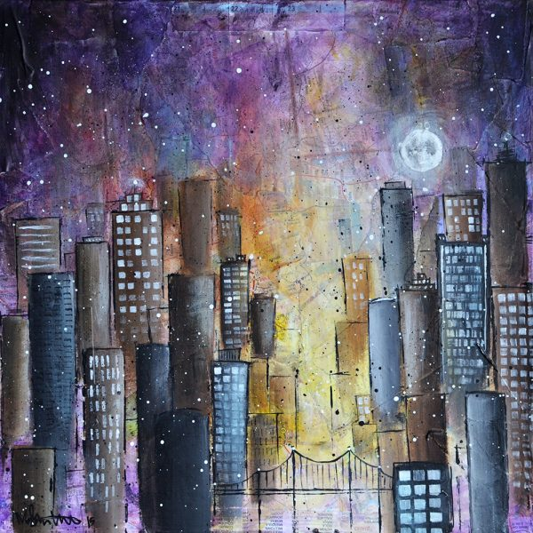Purple Night City by Meghan Tutolo