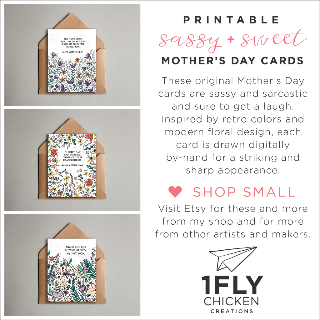 picture regarding Funny Printable Mothers Day Cards named Adorable-and-sy Moms Working day Playing cards MEGHAN TUTOLO