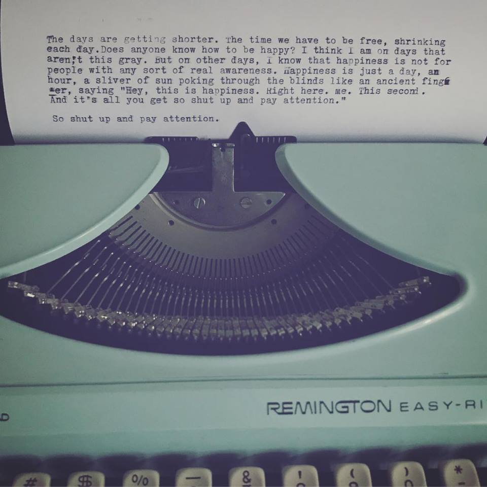 Rando typewriter flow