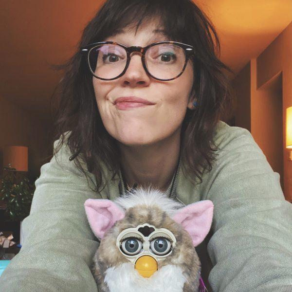 Meghan Tutolo with Furby