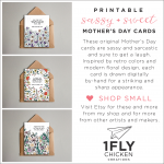 Funny, floral printable Mother's Day cards // by 1flychicken creations